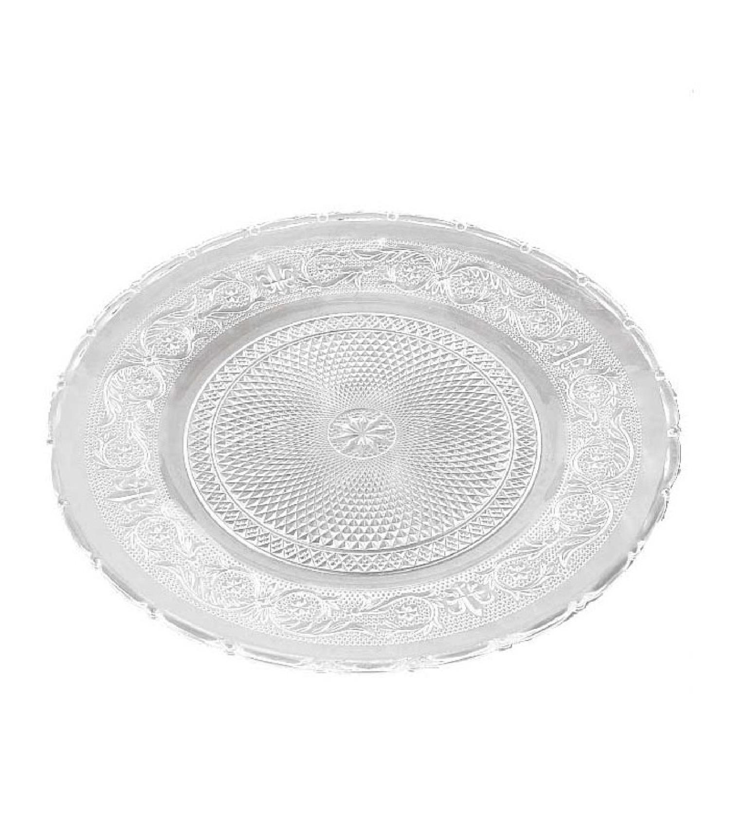 Assiette transparente en verre D30cm