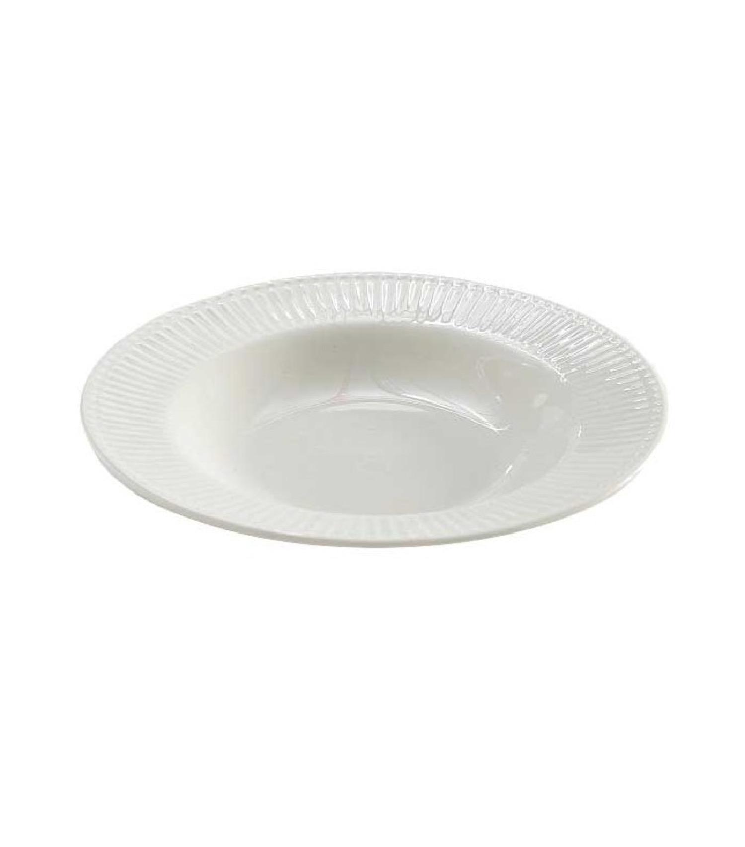 Assiette creuse en porcelaine blanche D22cm