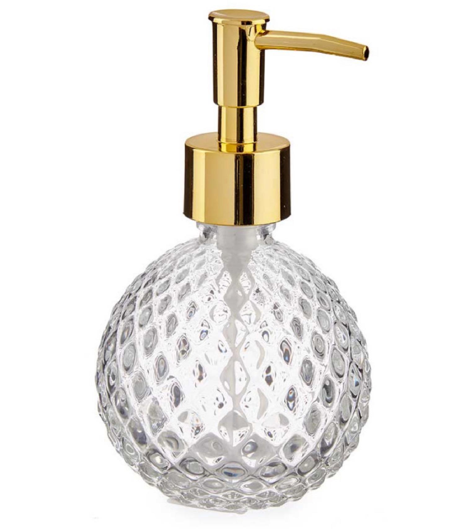 Distributeur de savon en verre et ABS doré 200ml