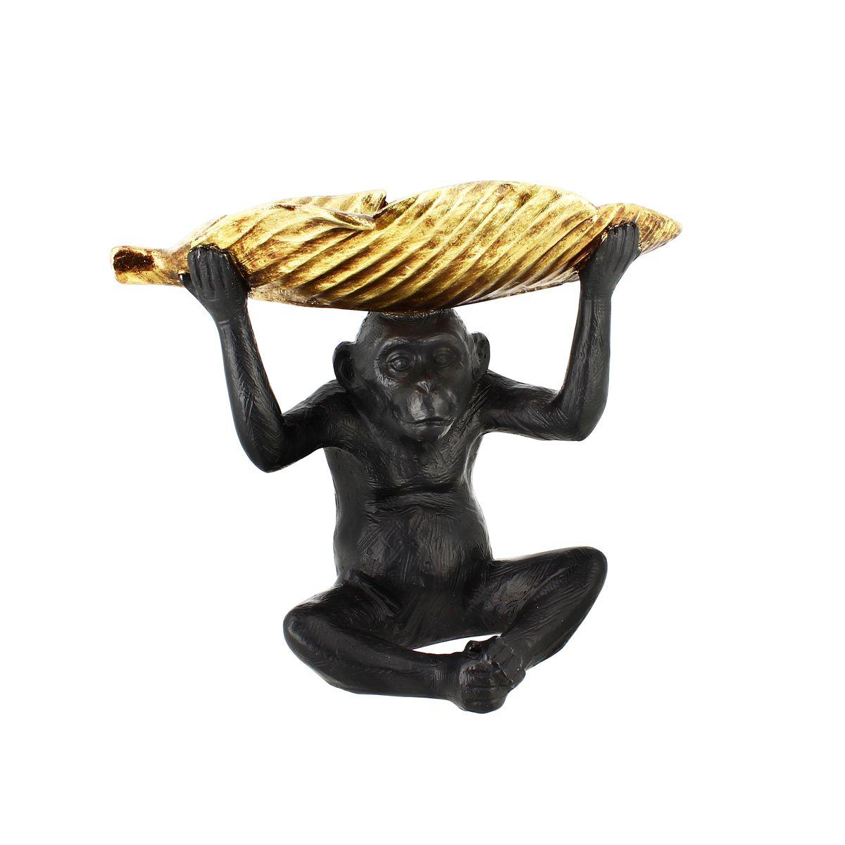 Vide poche singe en résine