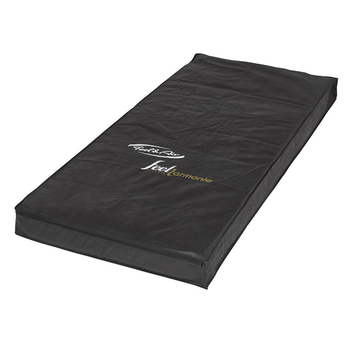Housse de rangement de matelas Tissu 90x190 Noir