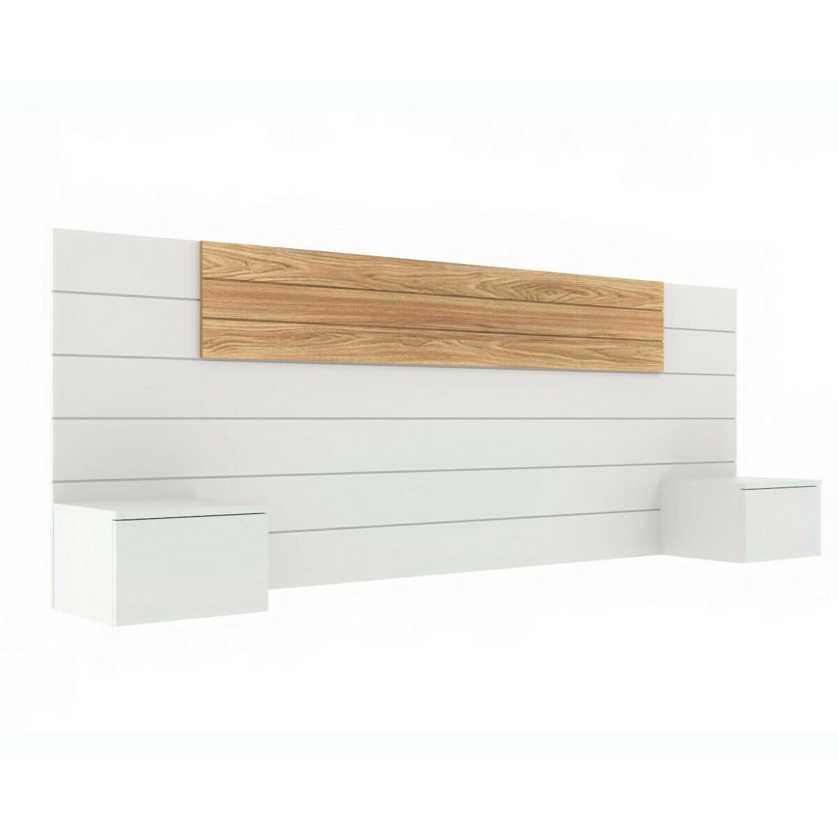 Tête de Lit, chevets Panneaux de particules 160 Blanc, bois