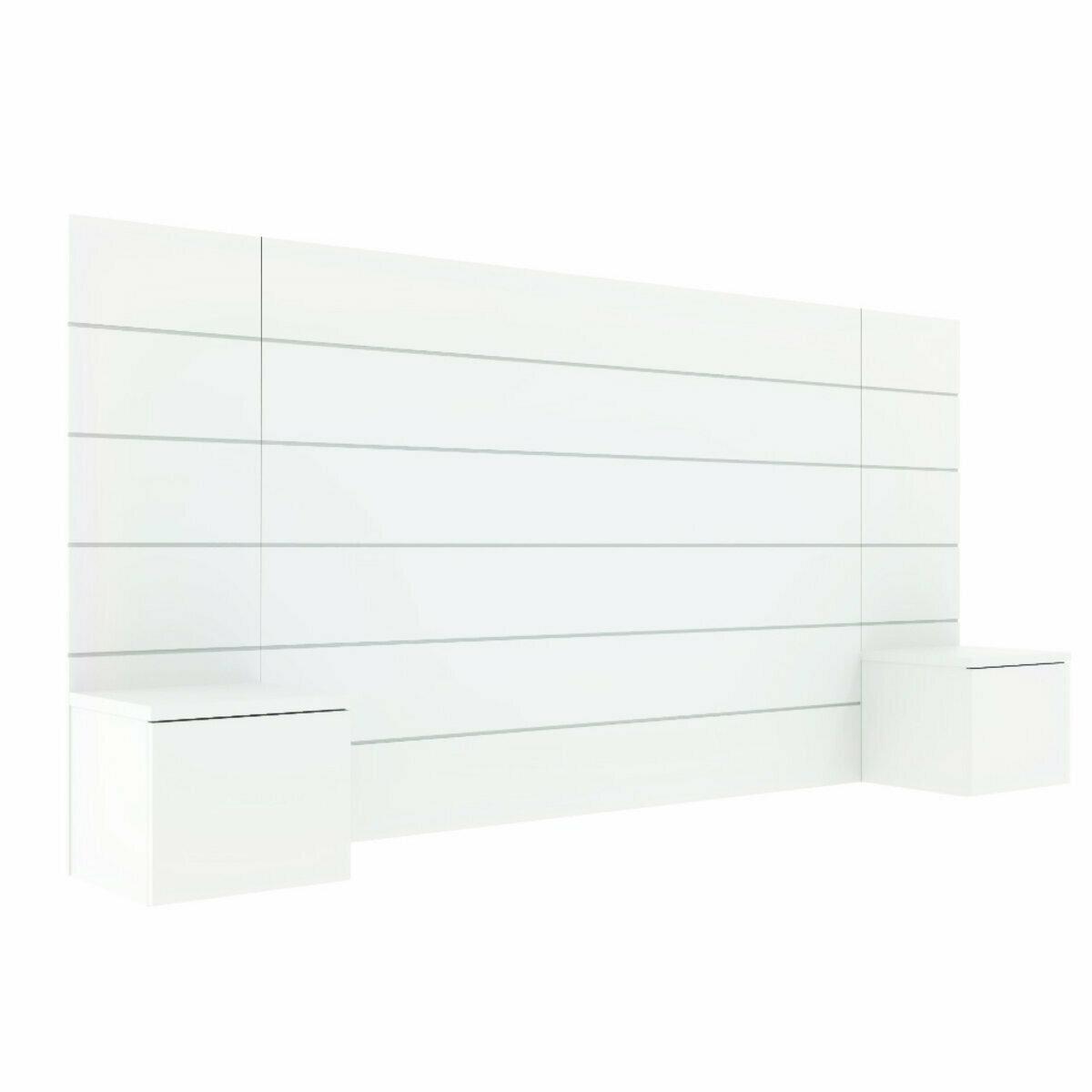 Tête de Lit, chevets Panneaux de particules 160 Blanc