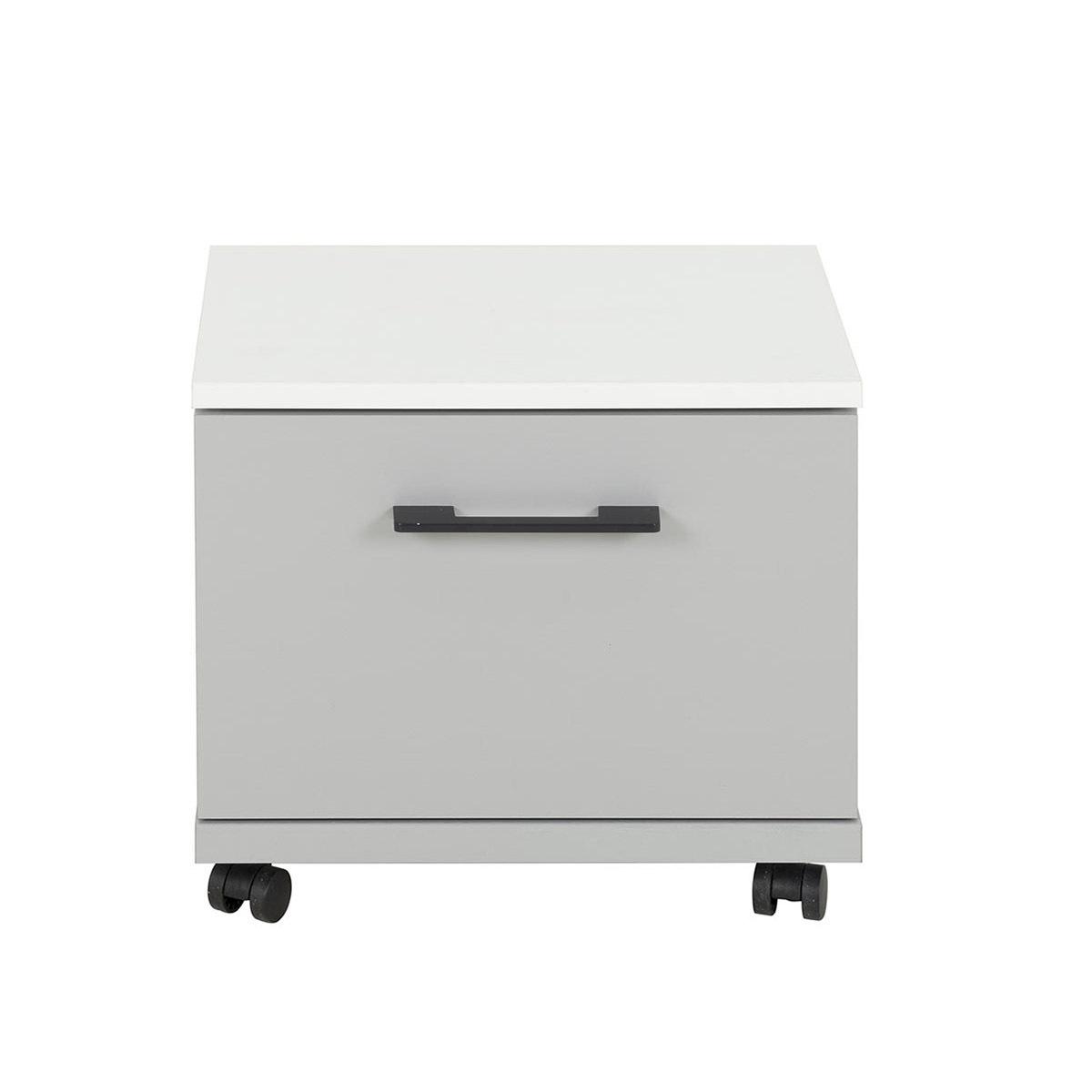 Chevet Panneaux de bois  Blanc, gris clair