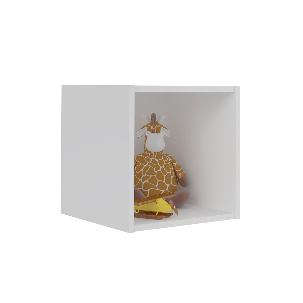 Casier de rangement 1 case Panneaux de bois  Blanc