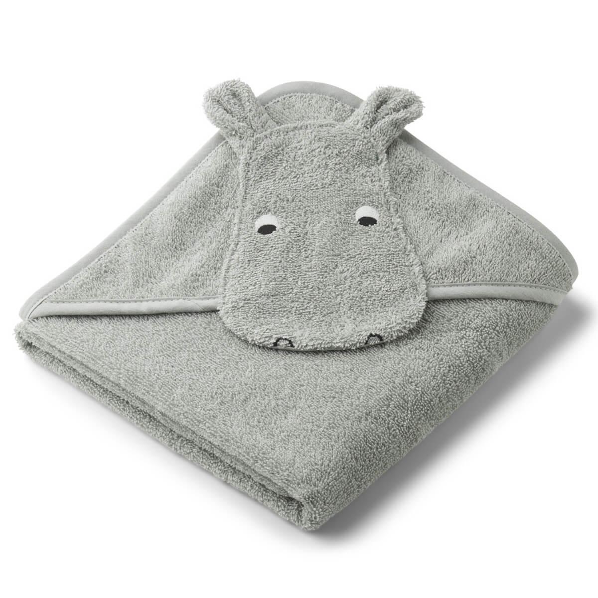 Cape de bain albert hippo dove bleu