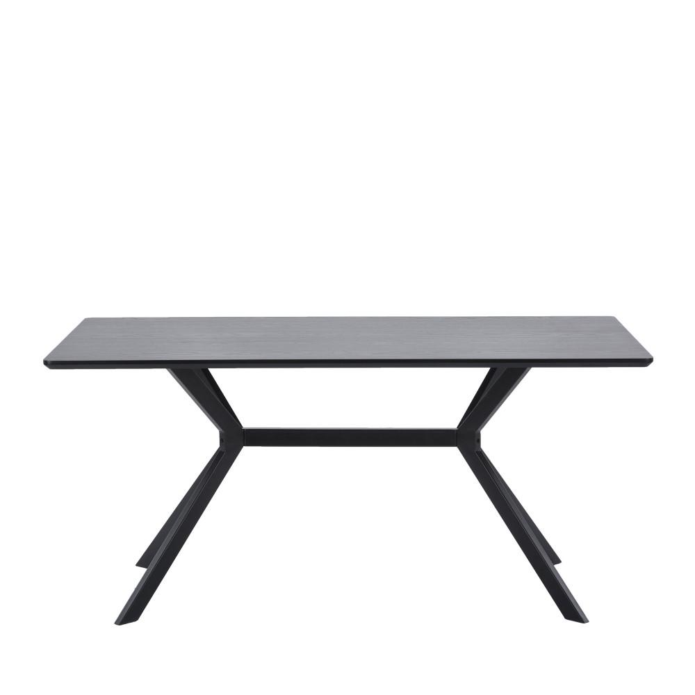 Table à manger en bois et métal 160x90cm noir