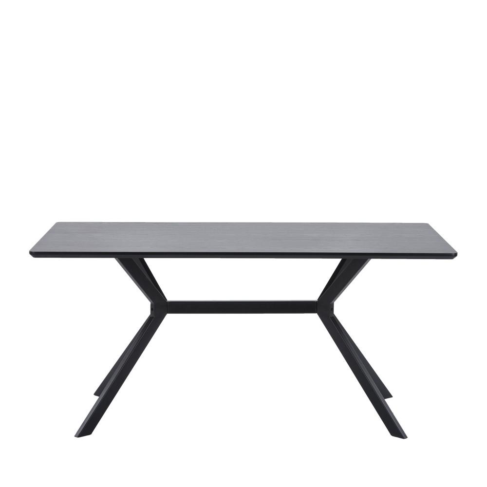 Table à manger en bois et métal 200x90cm noir