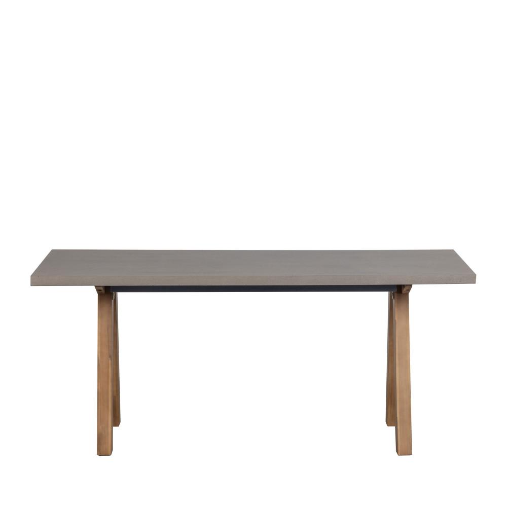 Table à manger effet béton 90x180cm naturel