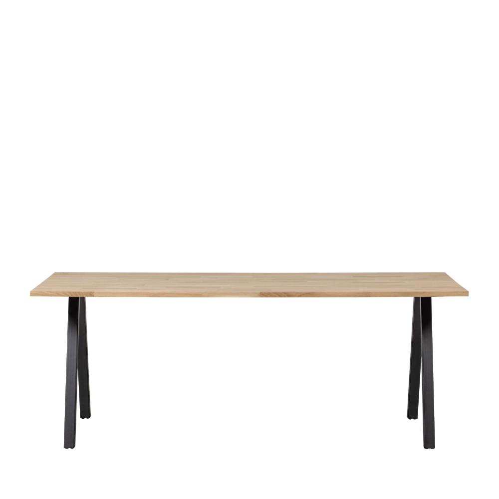 Table à manger en bois piétement en A 200x90cm naturel