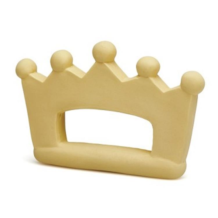 Anneau de dentition couronne en caoutchouc naturel Jaune