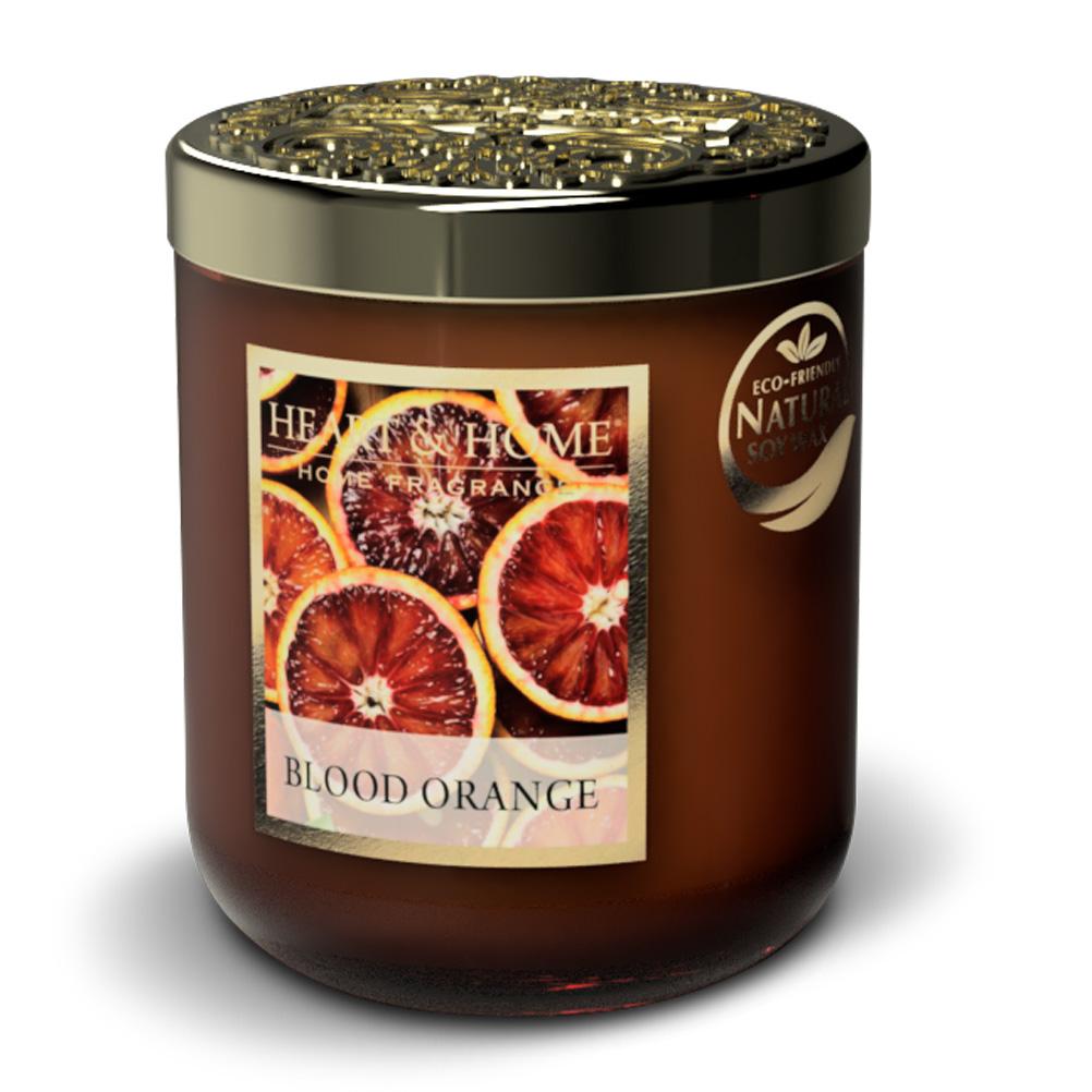 Bougie à la cire de soja orange sanguine 30h