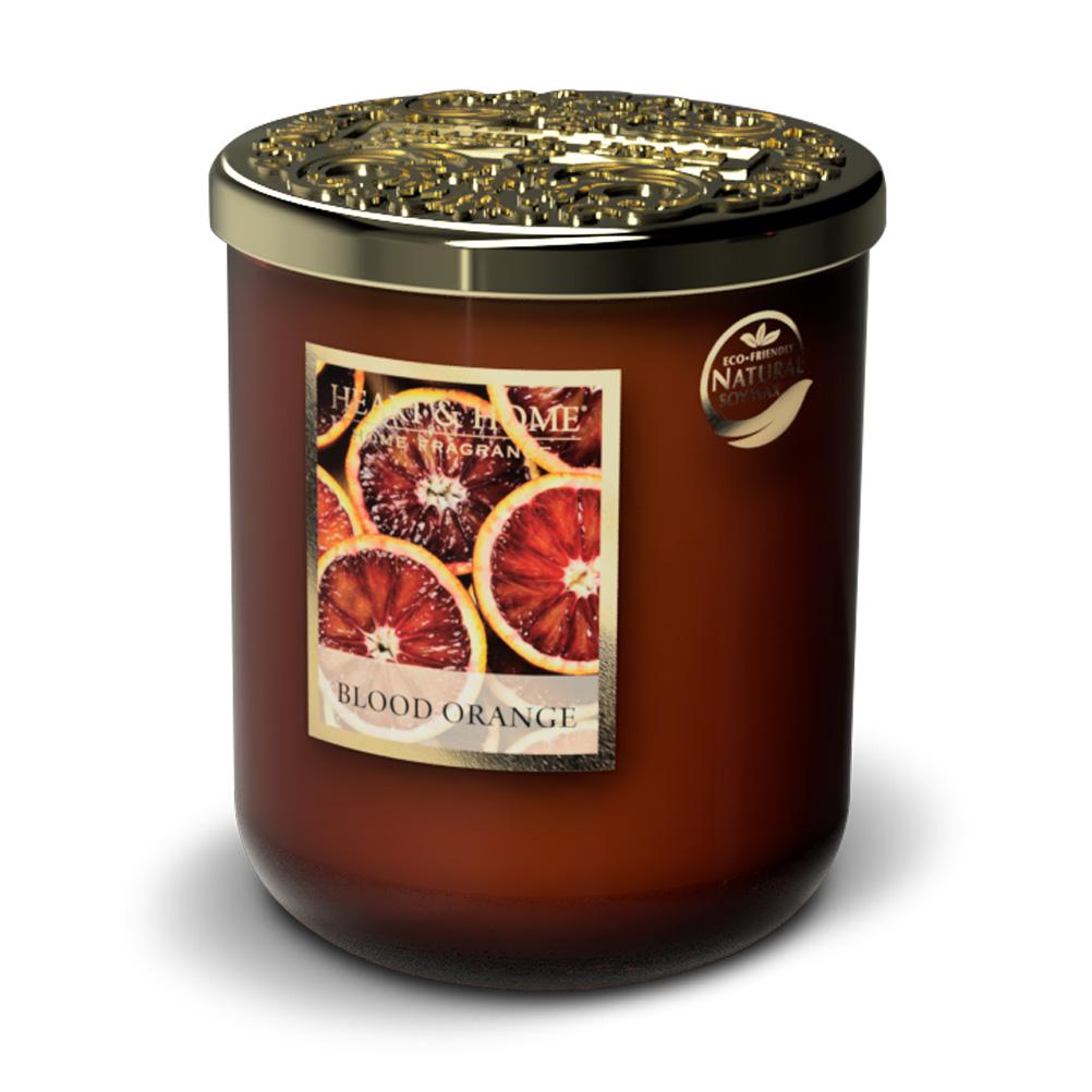 Bougie à la cire de soja orange sanguine 70h