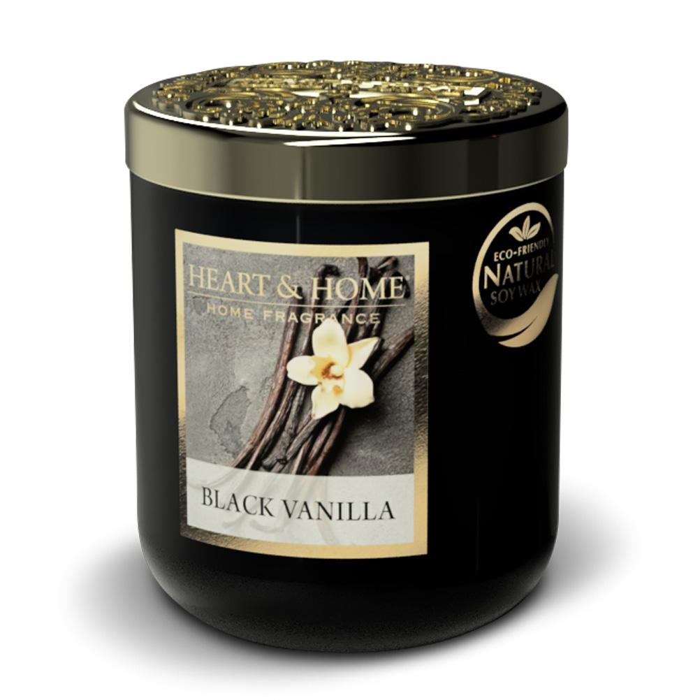 Bougie à la cire de soja vanille noire 30h