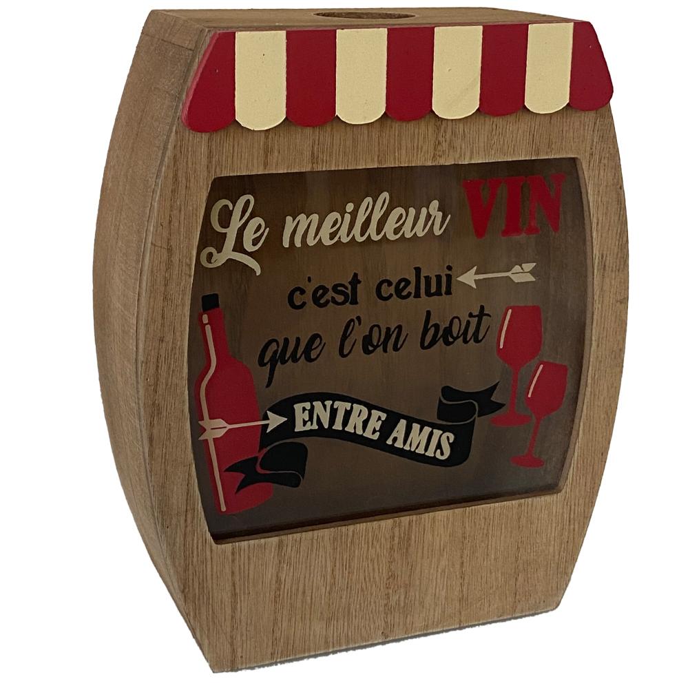 Boîte à bouchons de liège 18x22cm