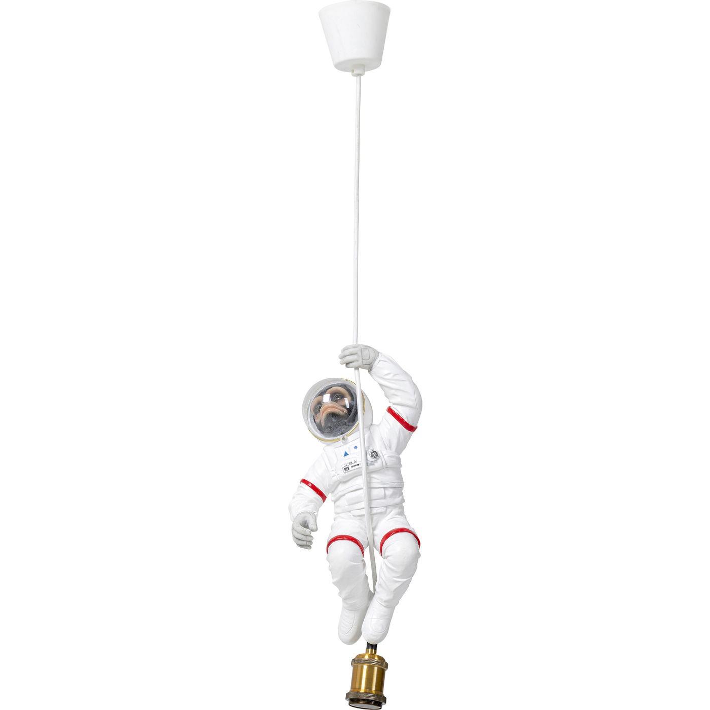 Suspension singe astronaute en polyrésine blanche