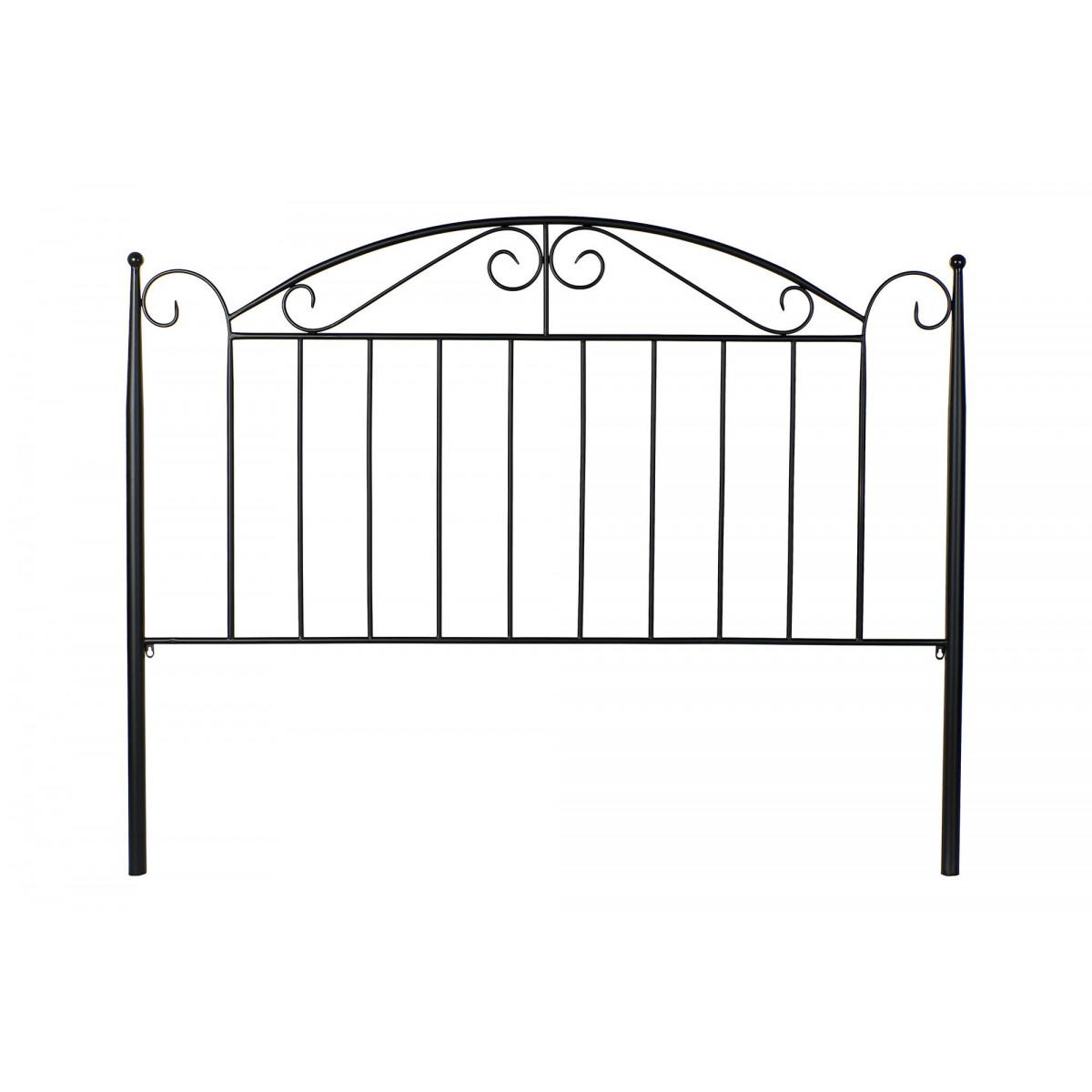 Tête de lit classique en fer forgé noir 150cm
