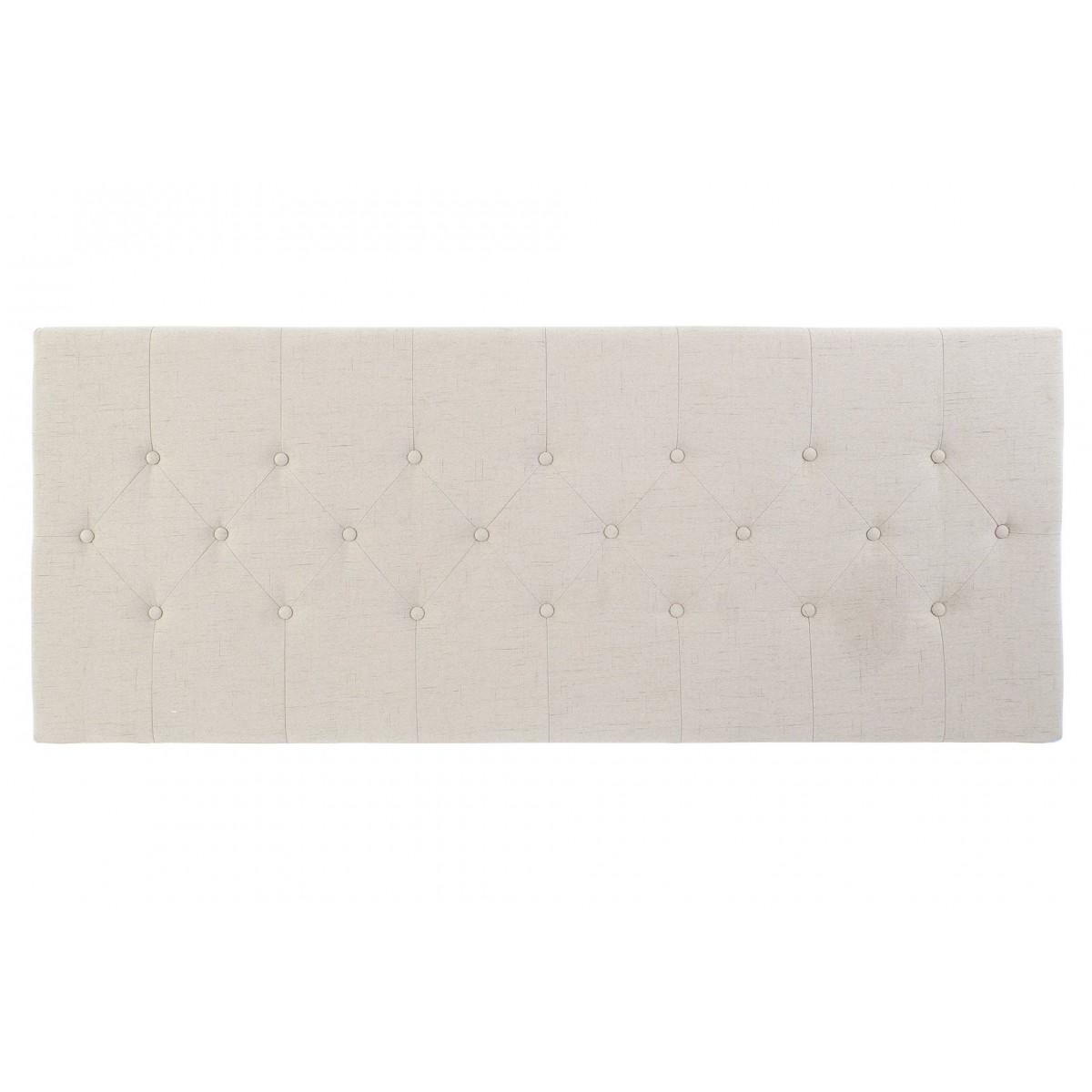 Tête de lit capitonnée polyester beige L160cm