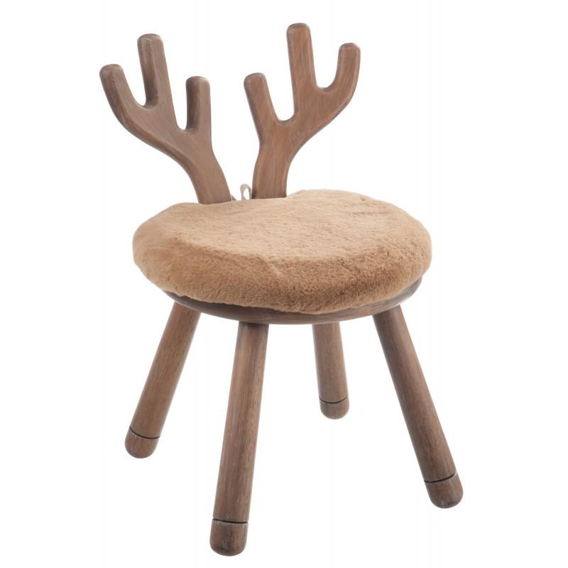 Chaise cerf en bois naturel