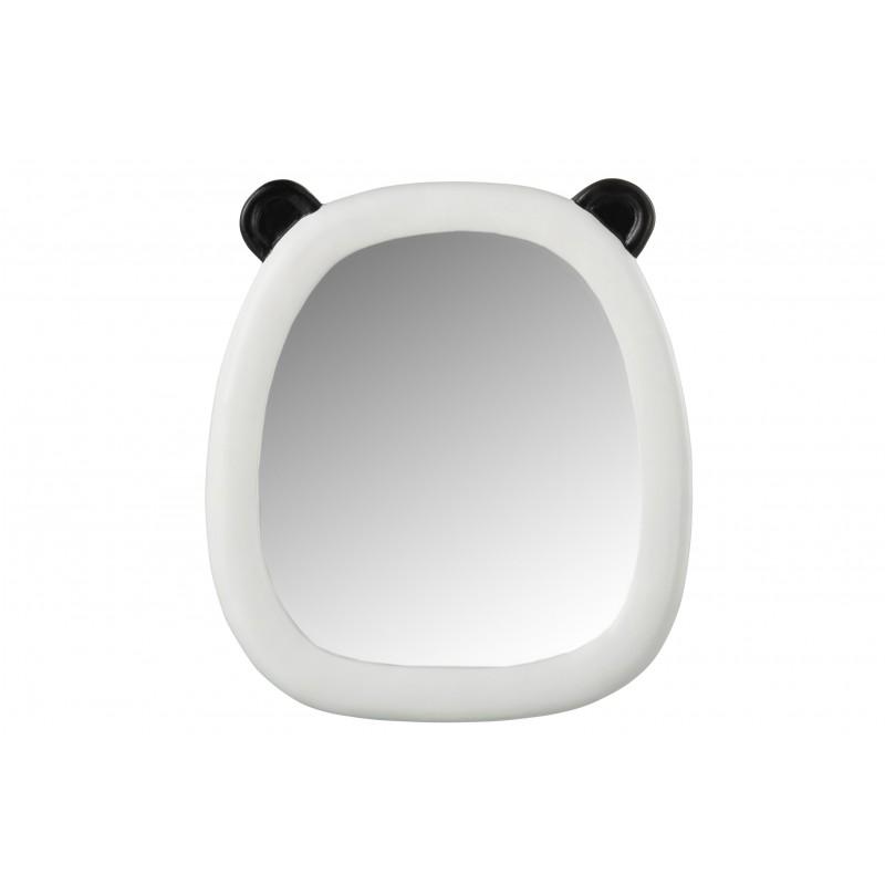 Miroir oreilles panda résine noir et blanc H28,5cm