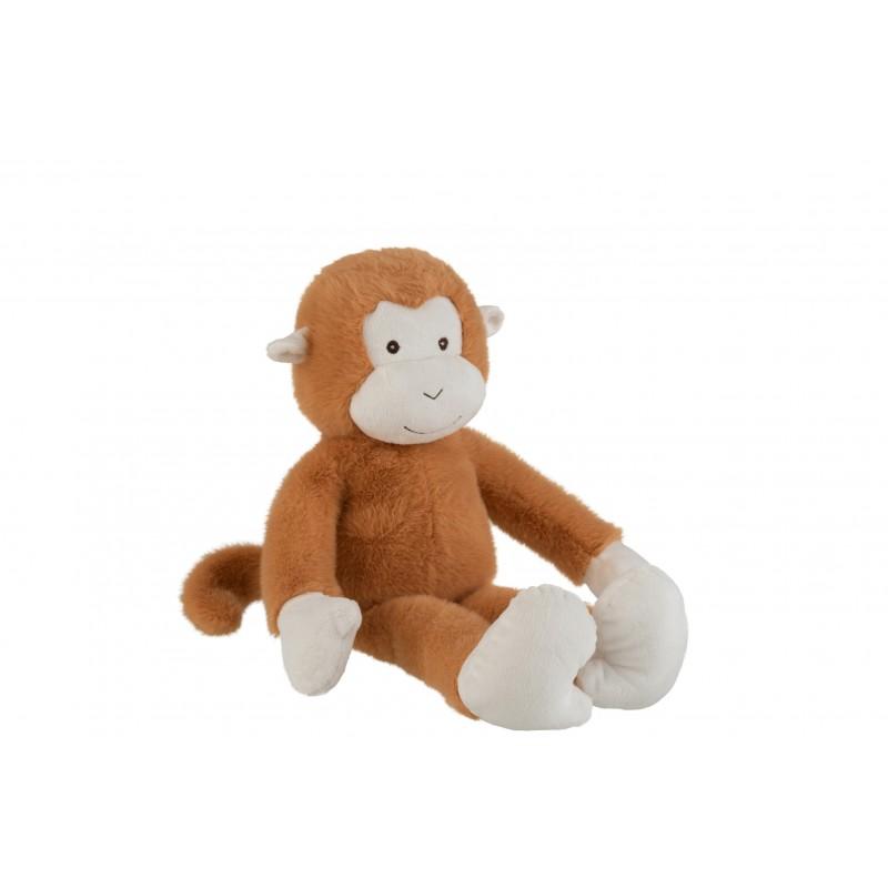 Peluche singe marron