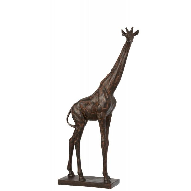 Girafe résine marron H73cm