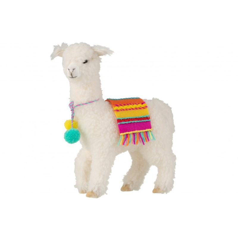 Lama déco laine blanc