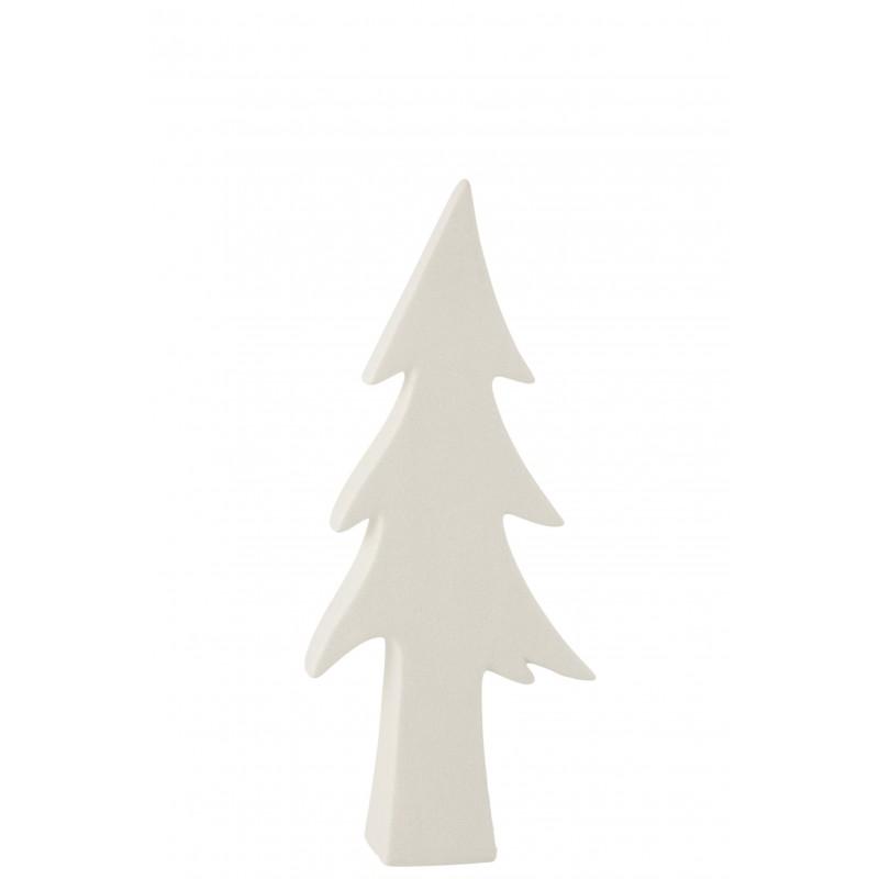 Arbre céramique blanc H44cm