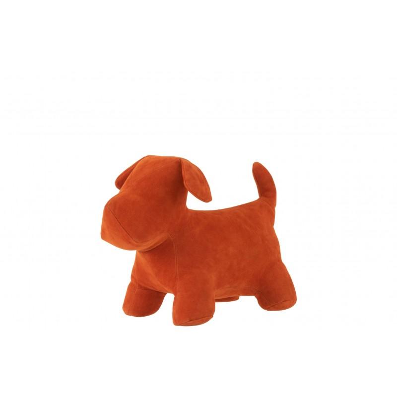 Cale-porte chien mat velours orange