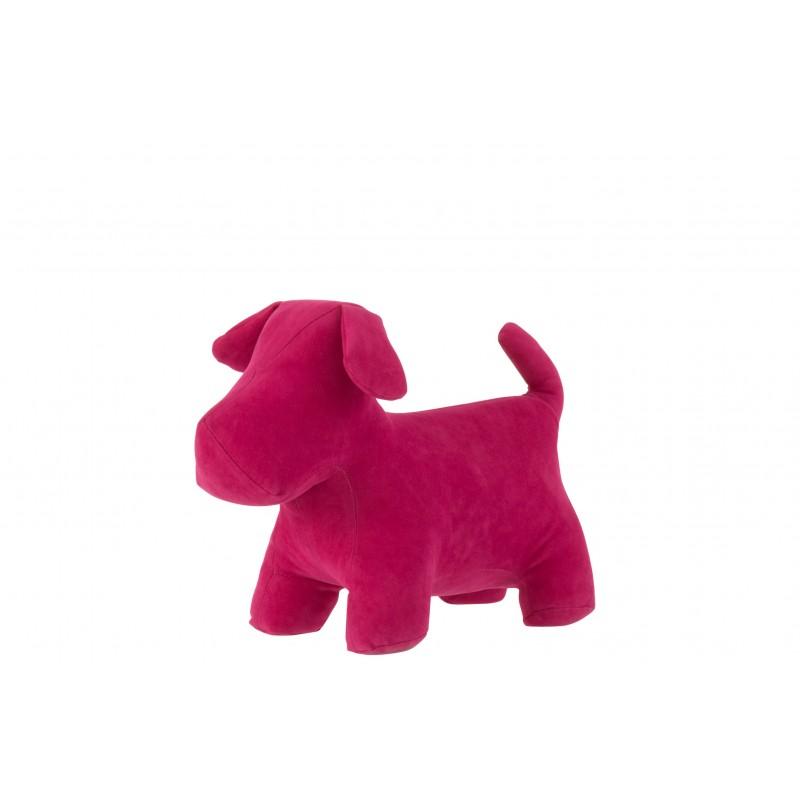 Cale-porte chien mat velours rose