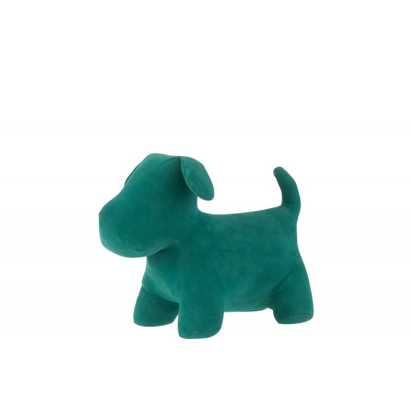 Cale-porte chien mat velours vert