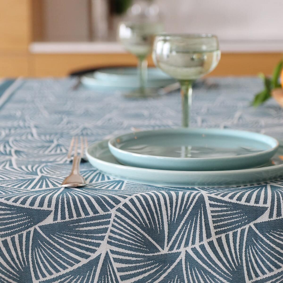 Chemin de table Bleu 50x155 cm
