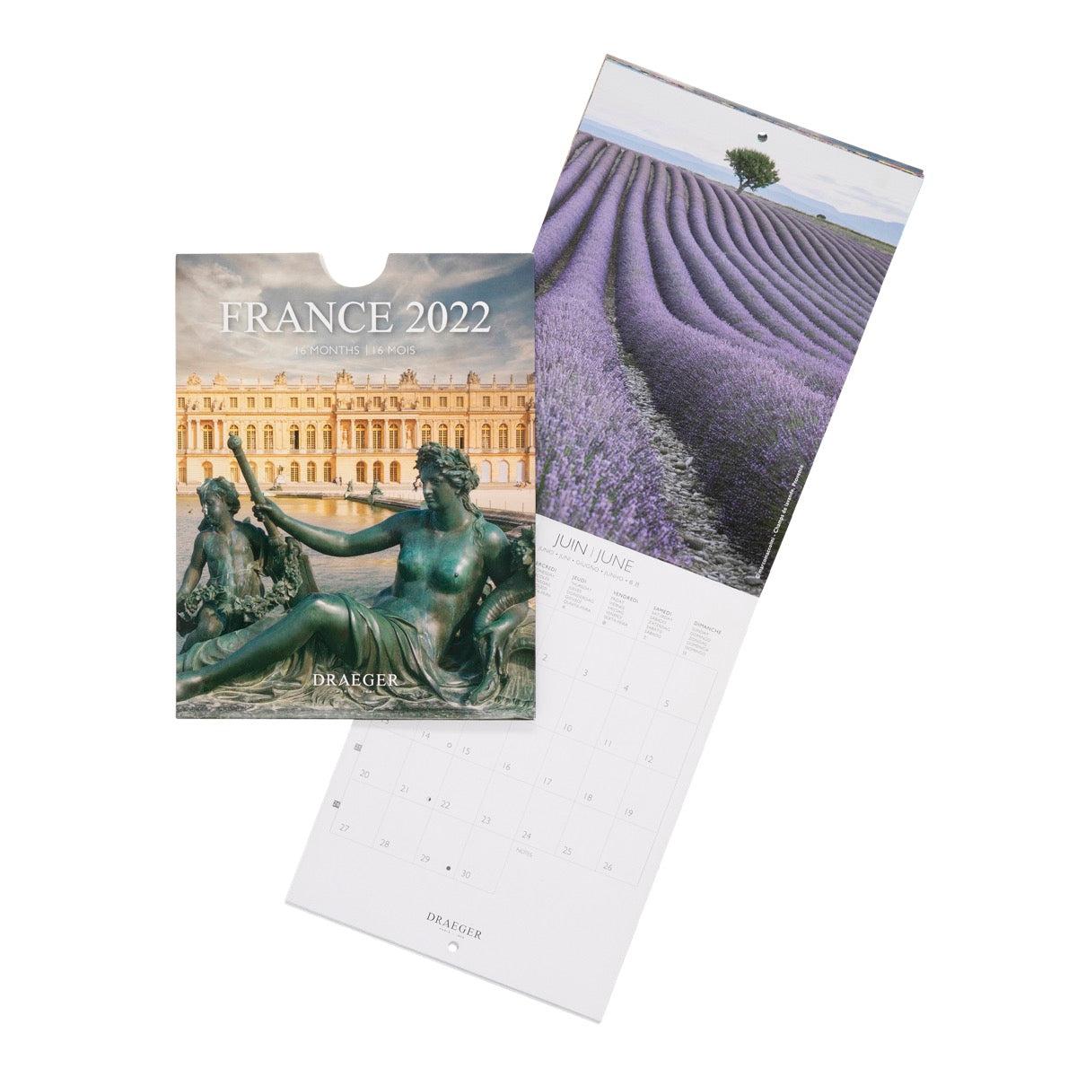 Petit Calendrier Mural France - 2022