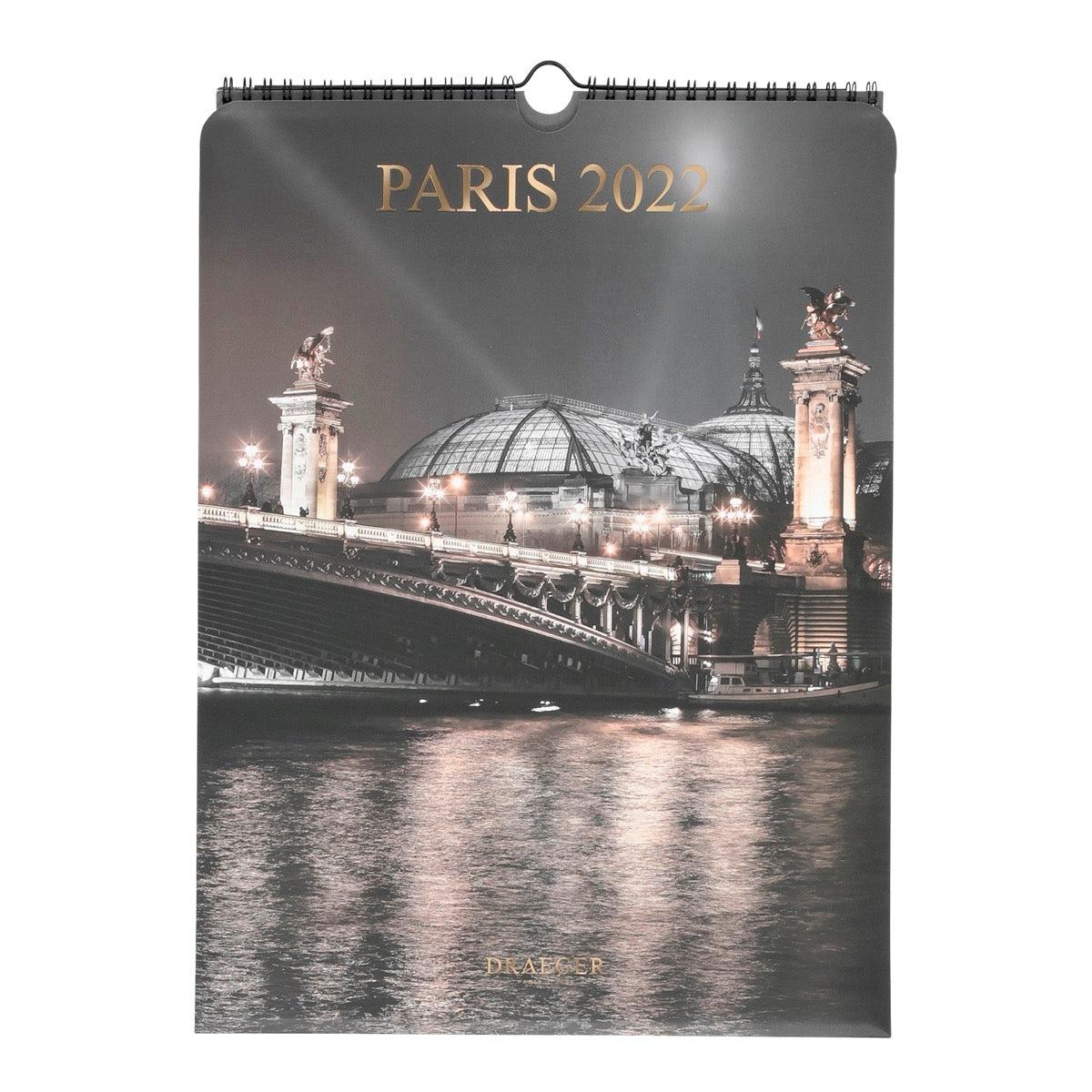 Calendrier Mural Déco 2022 - Paris