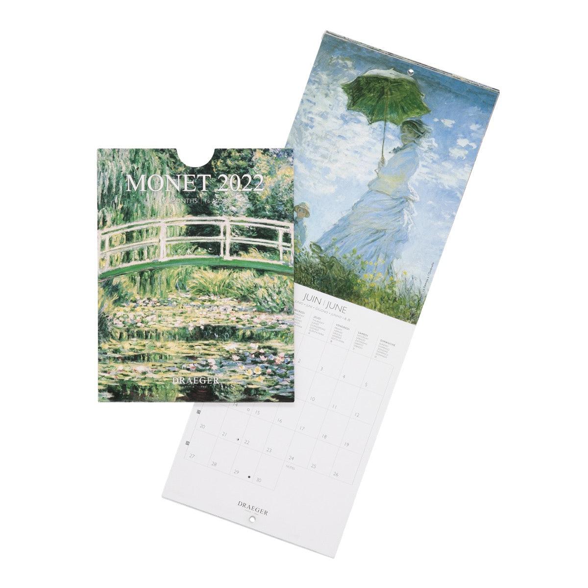 Petit Calendrier Mural Monet - 2022
