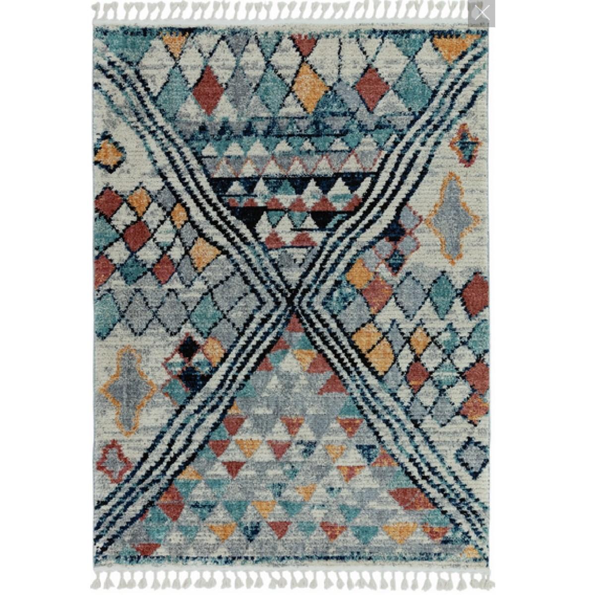 Tapis style berbère en Polyester Multicolore 200x290 cm