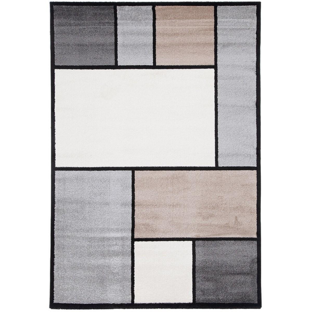 Tapis de salon en Polypropylène Beige 120x170 cm
