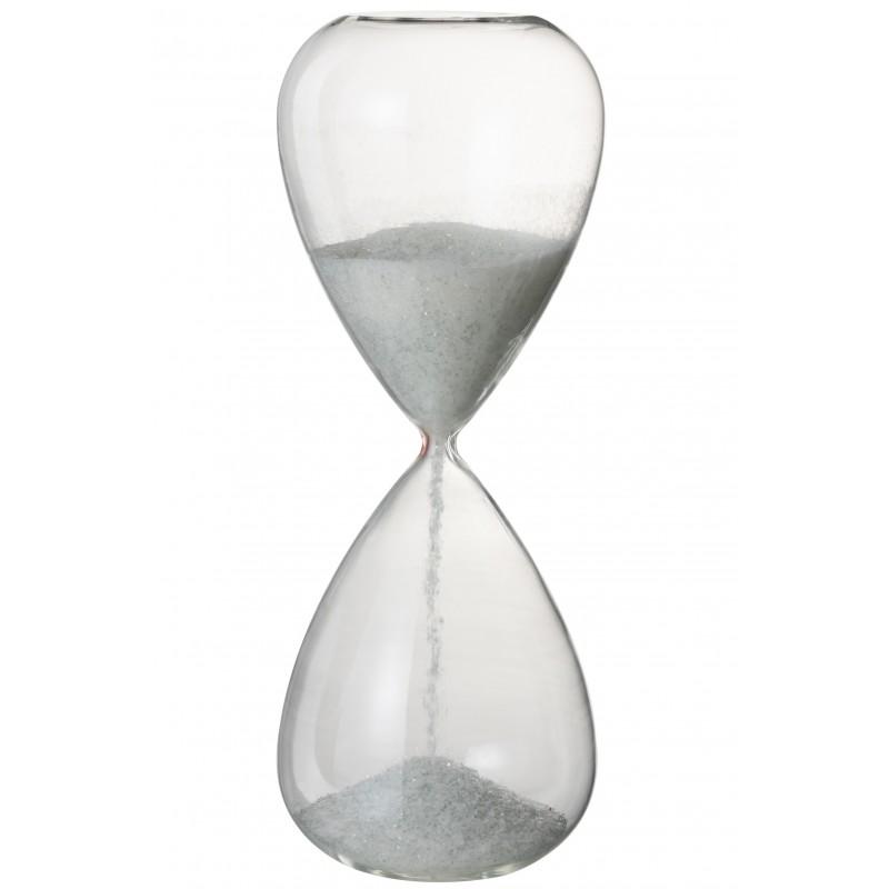 Sablier verre blanc H40cm