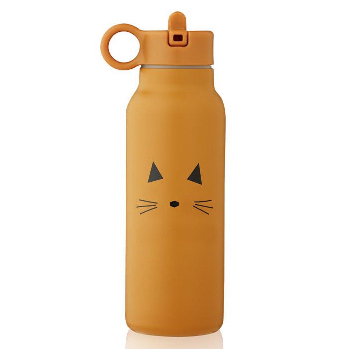 Gourde enfant 350ml falk cat moutarde