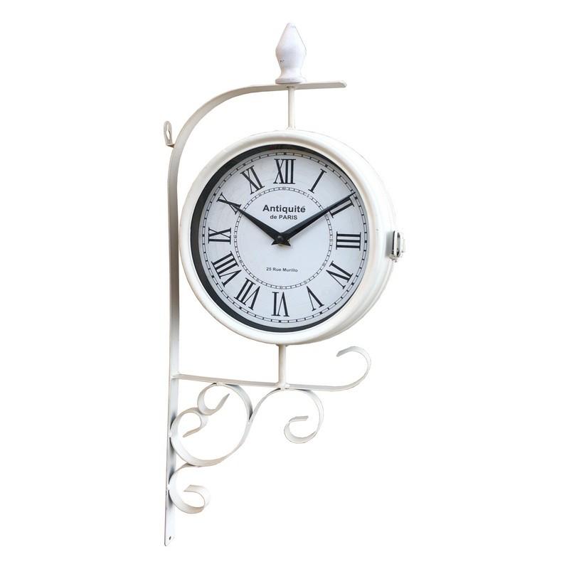 Grande horloge de gare double face horloge industrielle campagne54x25