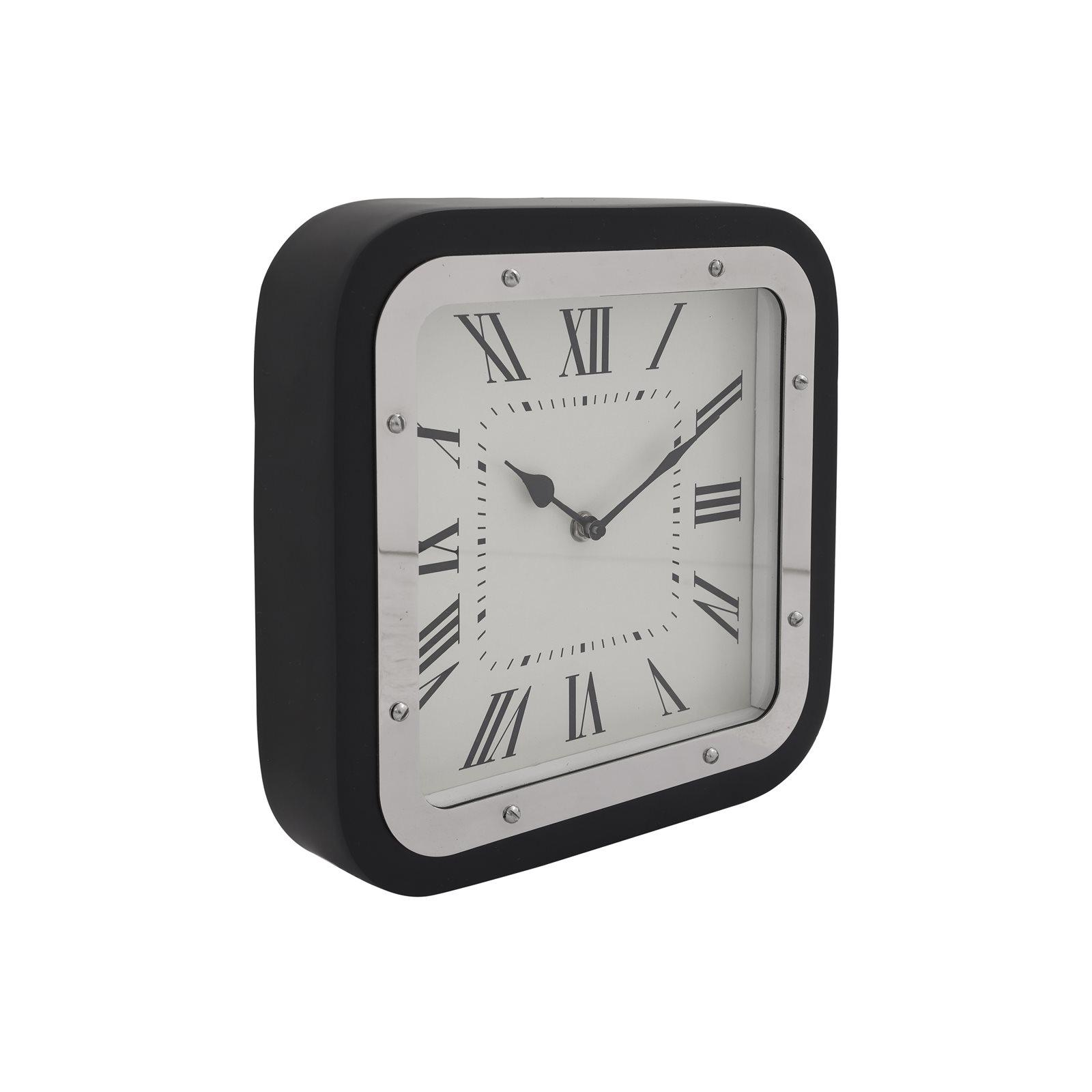 Horloge murale Argent et noir 6x28x28