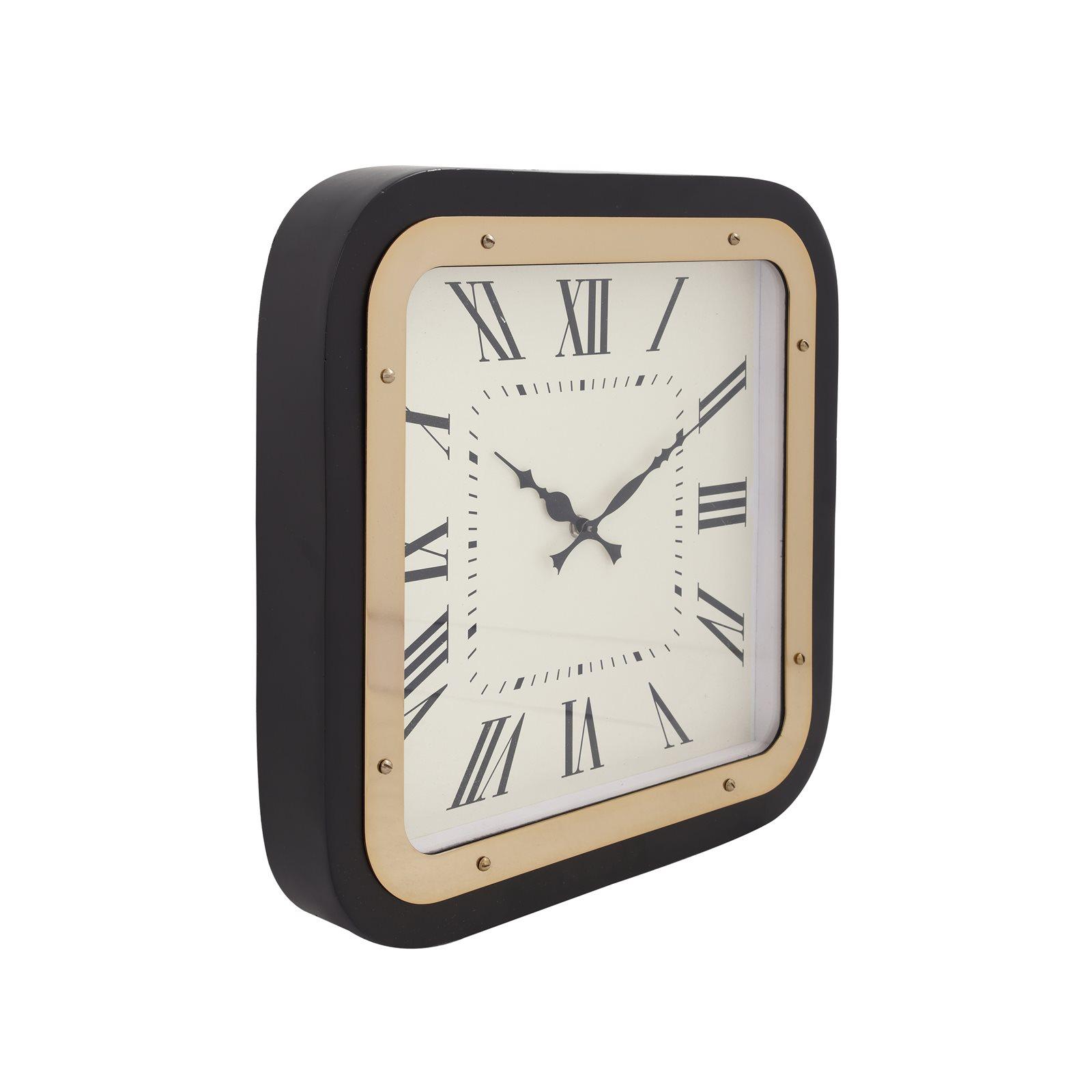 Horloge murale Or et noir 5x40x40