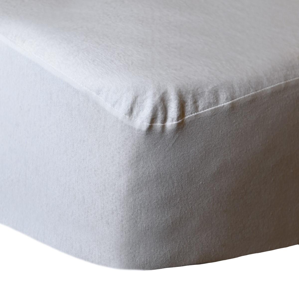 Protège matelas imperméable coton Blanc 180x200 cm