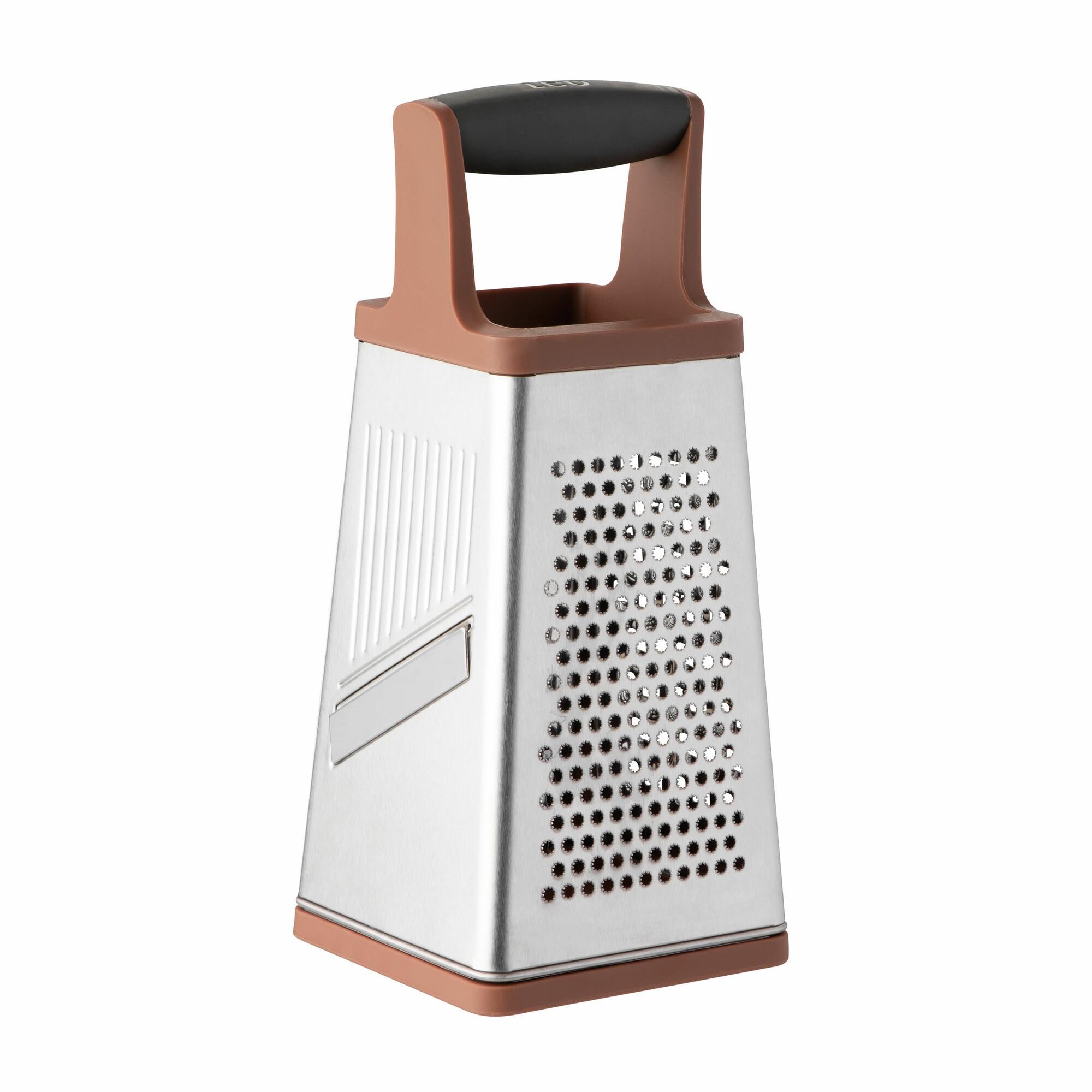 Boîte à râpe 4 faces en acier poignée marron