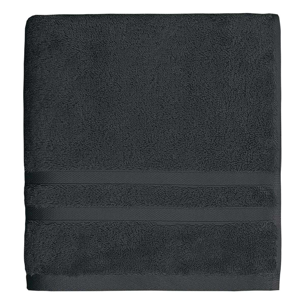 Drap de bain 600gr/m² Anthracite 70x140 cm