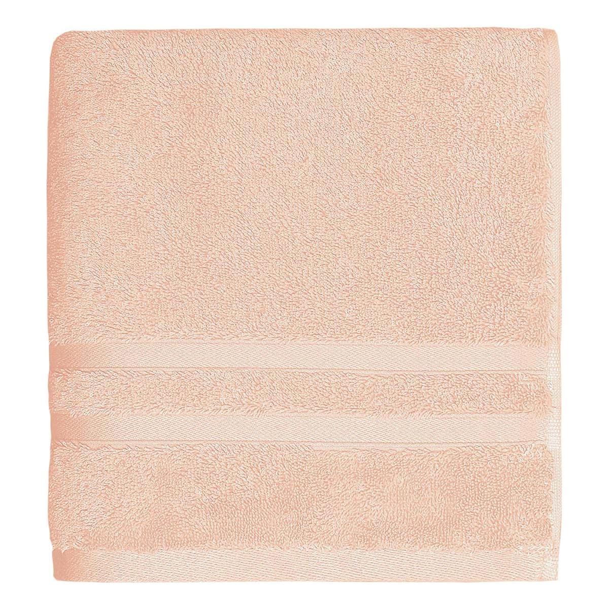 Drap de bain 600gr/m² Rose Poudre 70x140 cm
