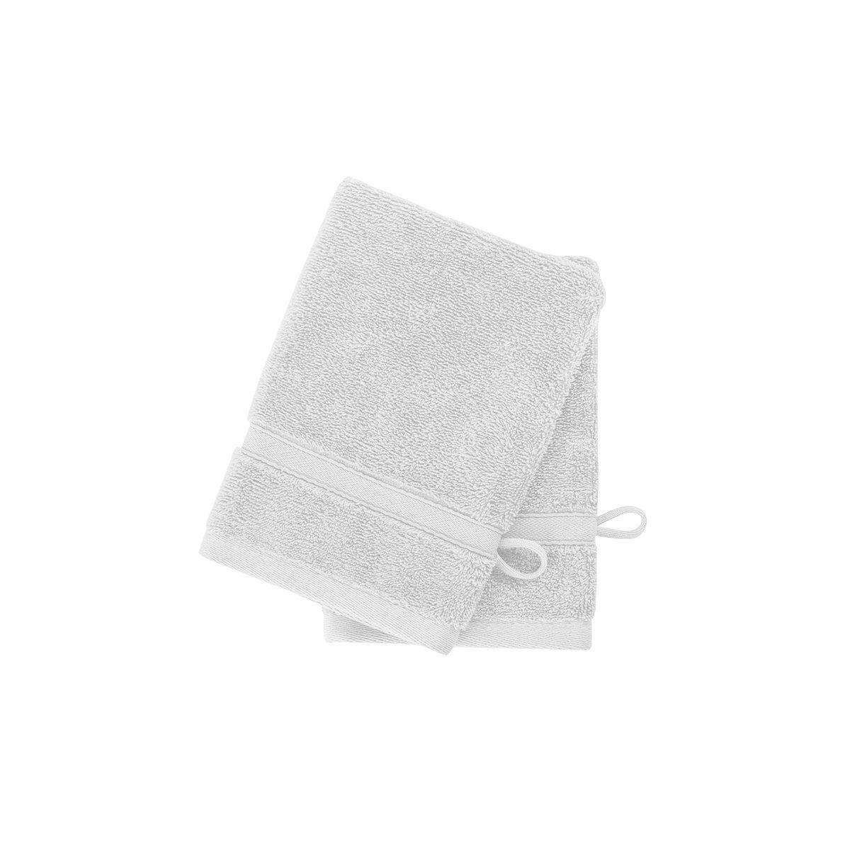 2 gants en coton bio Blanc 16x22 cm