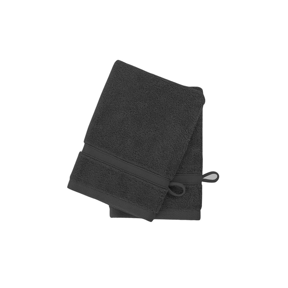 2 gants en coton bio Carbone 16x22 cm