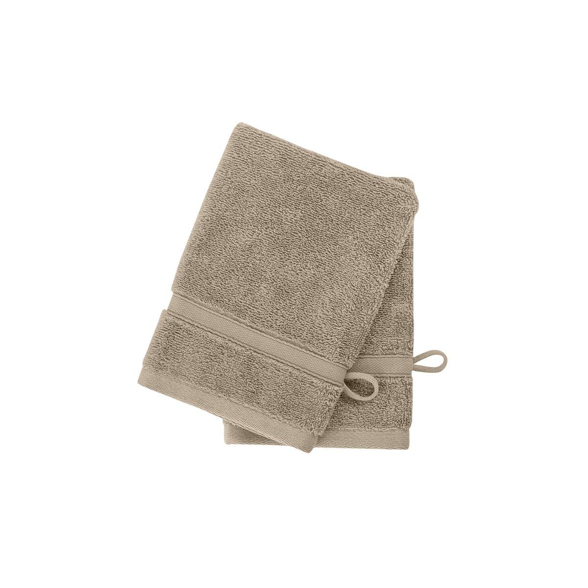 2 gants en coton bio Corde 16x22 cm