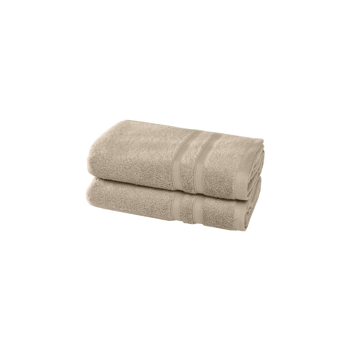 2 serviettes en coton bio Corde 50x100 cm
